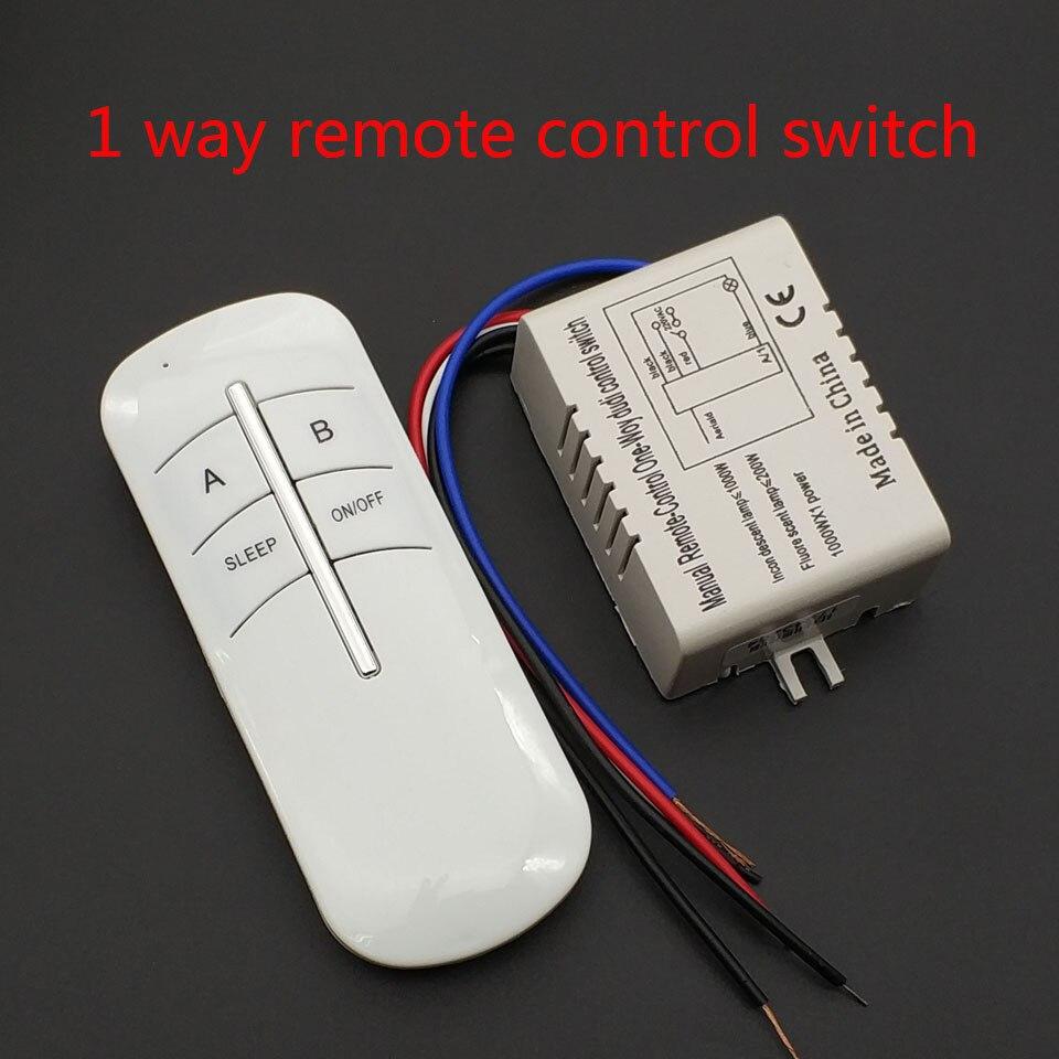 Transmisor receptor de interruptor de control remoto inalámbrico de 220V 1 vía ON/OFF