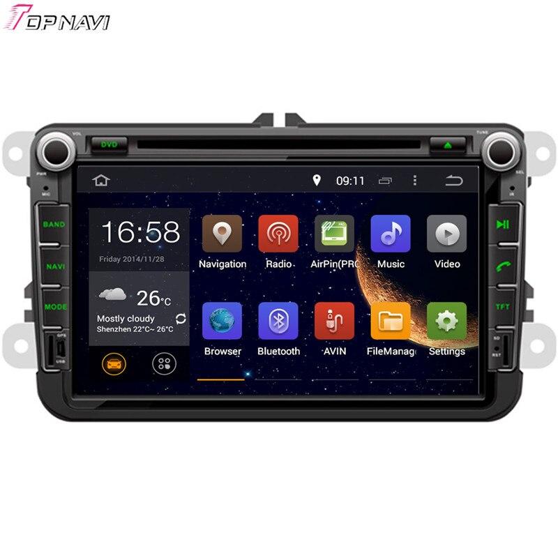 TOPNAVI 8 Octa Núcleo 4 GB Android 6.0 Rádio Do Carro para SKODA OCTAVIA II/III OCTAVIA/FABIA/SUPERB/POLO/EOS/SCIROCCO/T5/TRANSPORTER