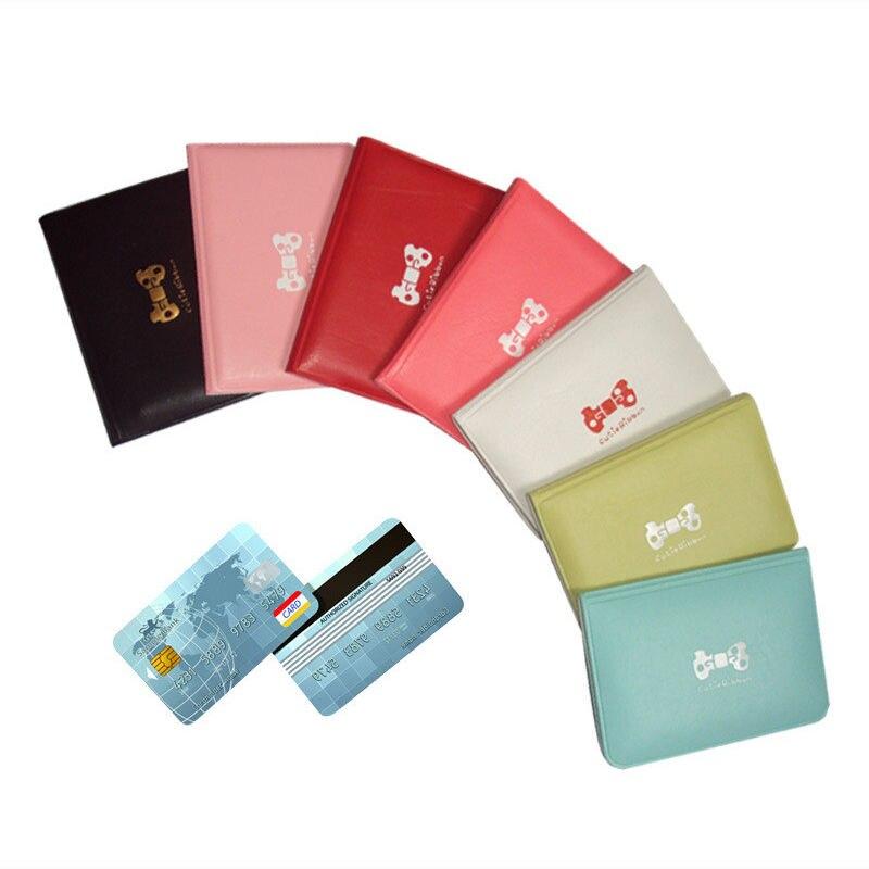Mujeres Bowknot negocio de crédito de las ID de tarjeta billetera bolsa de bolsillo funda, soporte bolsa