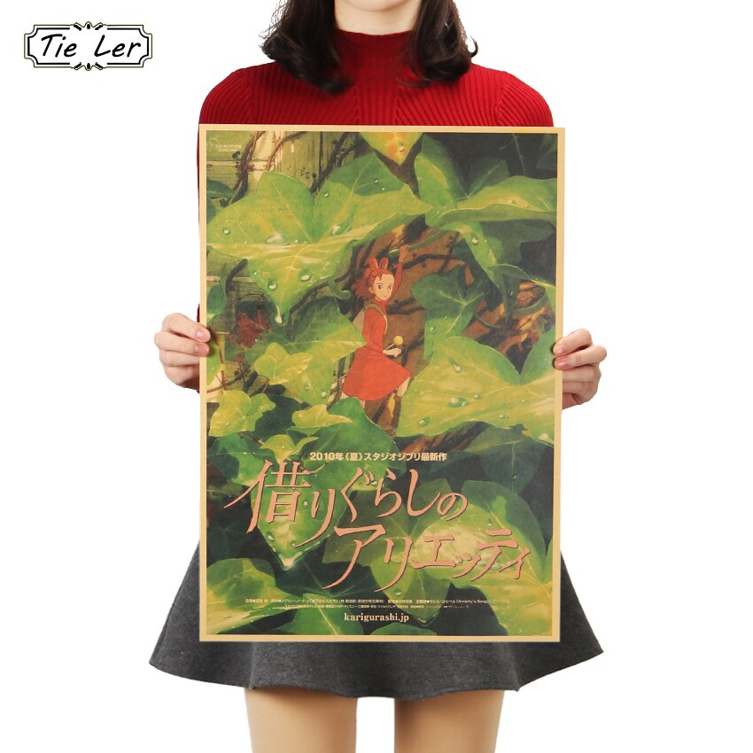 Póster de animación con código dorado TIE LER, póster clásico de papel Kraft clásico, decoración de pared, pegatina de 5x36cm