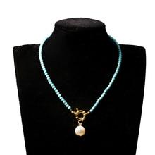 2019 Fashion Popular Freshwater Pearl Handmade Characteristic Design Necklace Feminine Charm BoheMian Wind Multicolor Optional