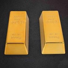 Kunststoff Gefälschte Gold Bar Gefälschte Ziegel Gold Bullion Simulation Paperweigh Deluxe Shop Spielzeug Tisch Decor Gold Ziegel Bullion Tür Stop