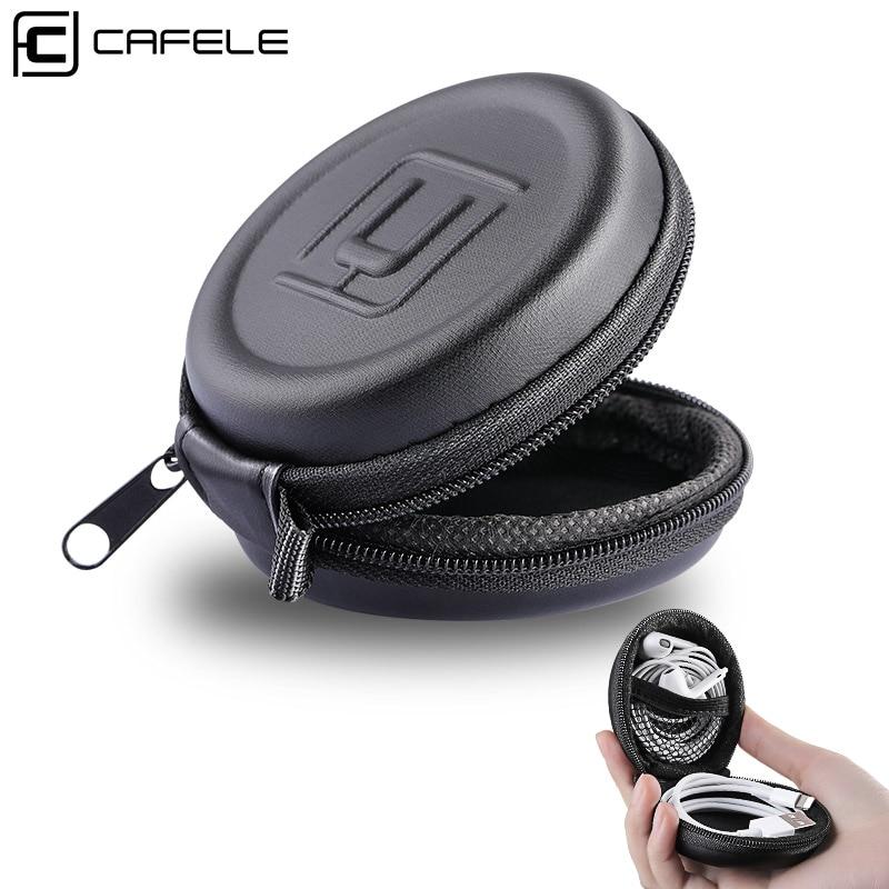 Cafele Mini Kopfhörer Halter Fall Lagerung Harten Tasche Box Abdeckung für Kopfhörer Ohrhörer USB Kabel SD TF Karten Schutzhülle fall