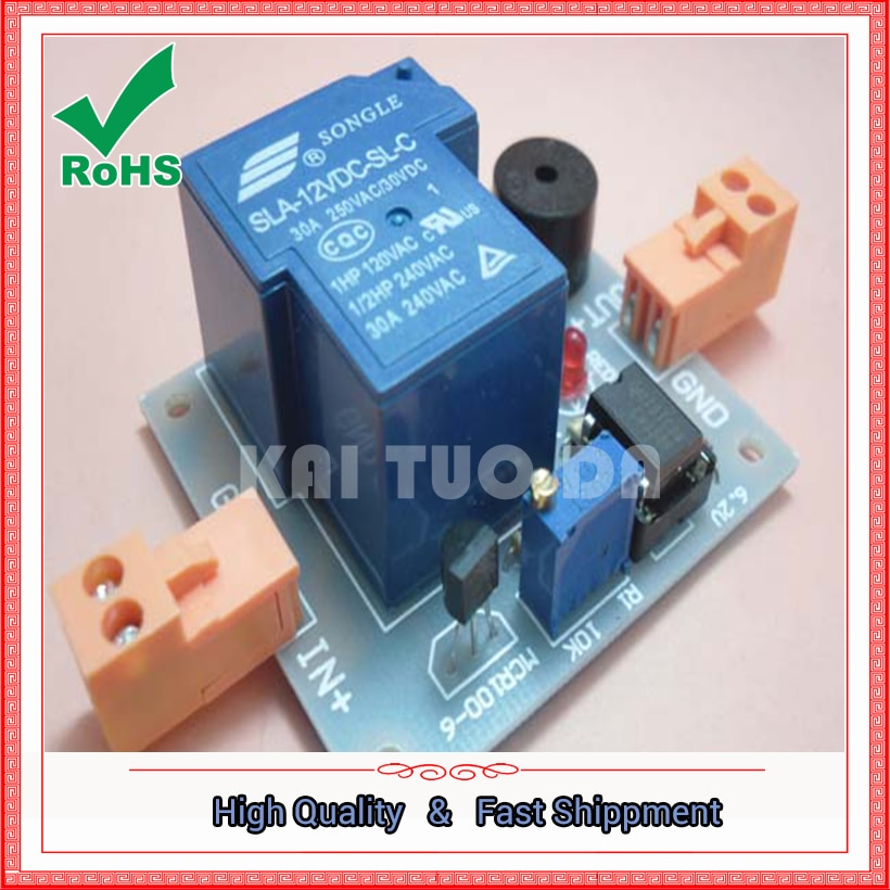 Envío GRATIS un lote 12 V acumulador Luz DE sonido alarma previene el control DE descarga