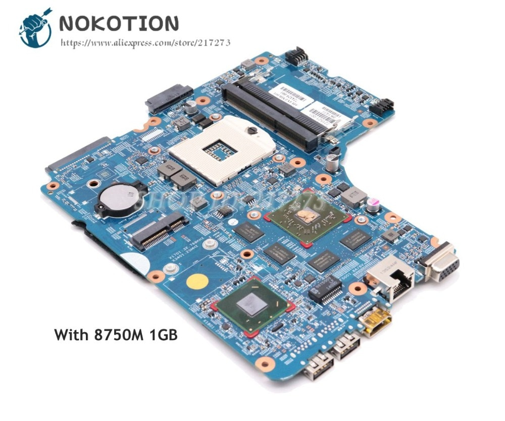 NOKOTION 721521-001 721521-501 721521-601 ل HP 440-G0 450 G0 470 اللوحة المحمول HM76 DDR3 HD8750M 1GB
