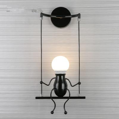 مصباح جداري LED إبداعي ، متأرجح ، لغرفة الأطفال ، غرفة النوم ، اللوح الأمامي ، الممر ، الديكور والفن للمنزل