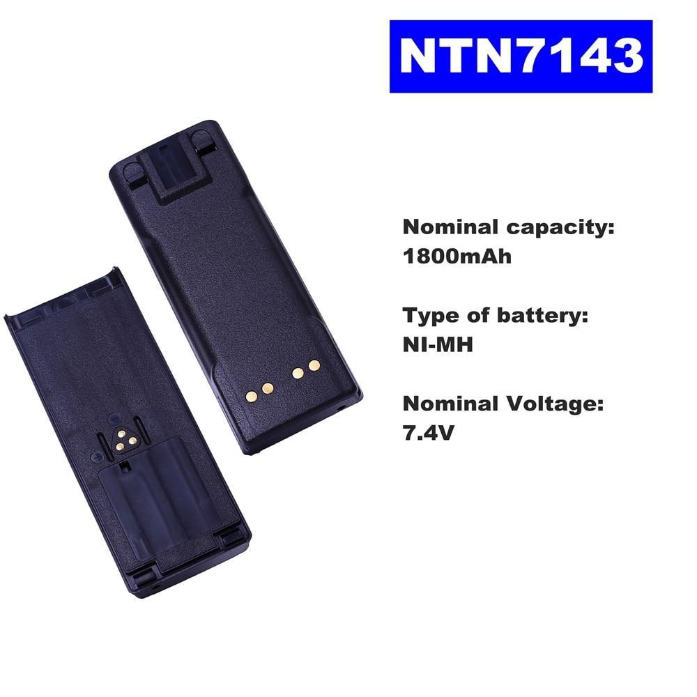 7.4V 1800mAh LI-ION Radio Battery NTN7143 For Motorola Walkie Talkie MTX838/8000/9000 GP900/1200 HT1000 MT2000 Two Way Radio