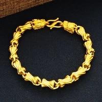 unique wrist chain bracelet yellow gold filled solid mens bracelet jewelry