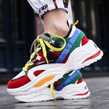 حذاء ركض للسيدات بنعل سميك يسمح بالتهوية حذاء رياضي بتصميم مفرغ من Ulzza Harajuku حذاء رياضي خفيف الوزن للرجال بتصميم كلاسيكي للمشي على شكل أبي مكتنزة موديل abu 48