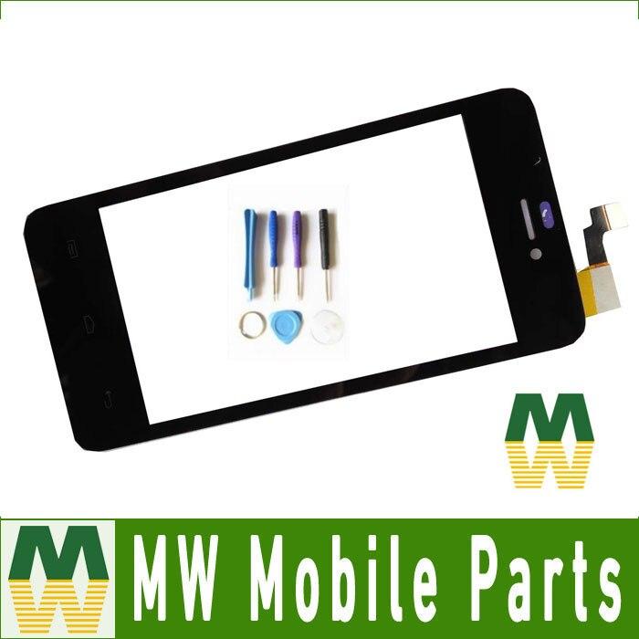 Alta qualidade 1 Pc/lote Toque Digitador Da Tela de Vidro Sensível Ao Toque Para Wiko Kite 4G Cor Preto com ferramentas