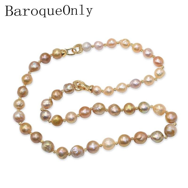 Ожерелье бароки, ожерелье из натурального пресноводного жемчуга, смешанный цвет, жемчуг Эдисон, 2019