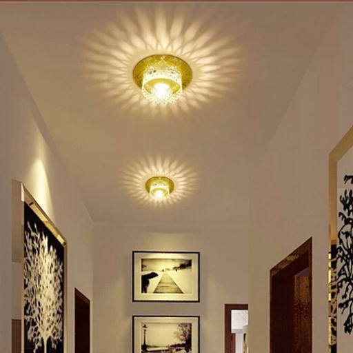 3W Modern LED Ceiling Spotlights Crystal Balcony Hallway Living Room Light Abajur Luminaria Light Fixtures AC220-240V abajur