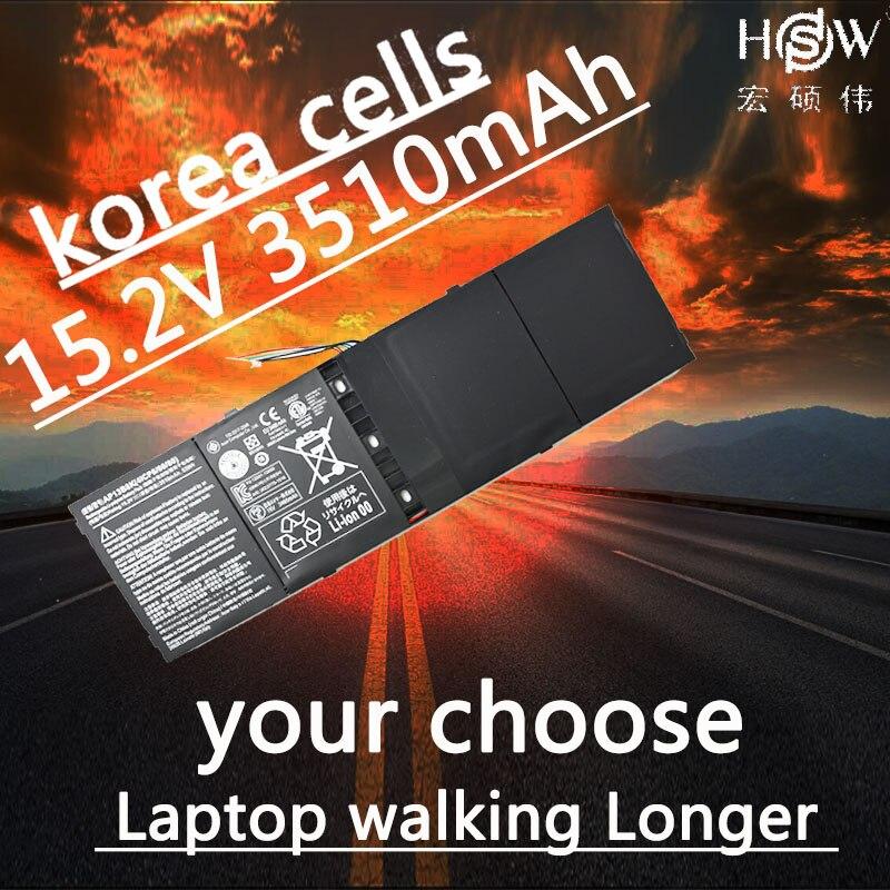 HSW 53wh 15,2 V AP13B8K KT00403015 Аккумулятор для ноутбука ACER Aspire R7 V5 V7 ES1-511 M5-583P R7-571 V5-473G V5-573P V7-481 V7-481G