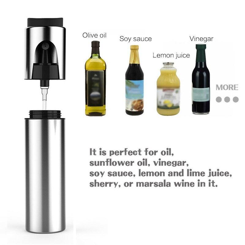 Nuevo pulverizador de aceite de oliva para barbacoa al aire libre, botella con cepillo de acero inoxidable XD88