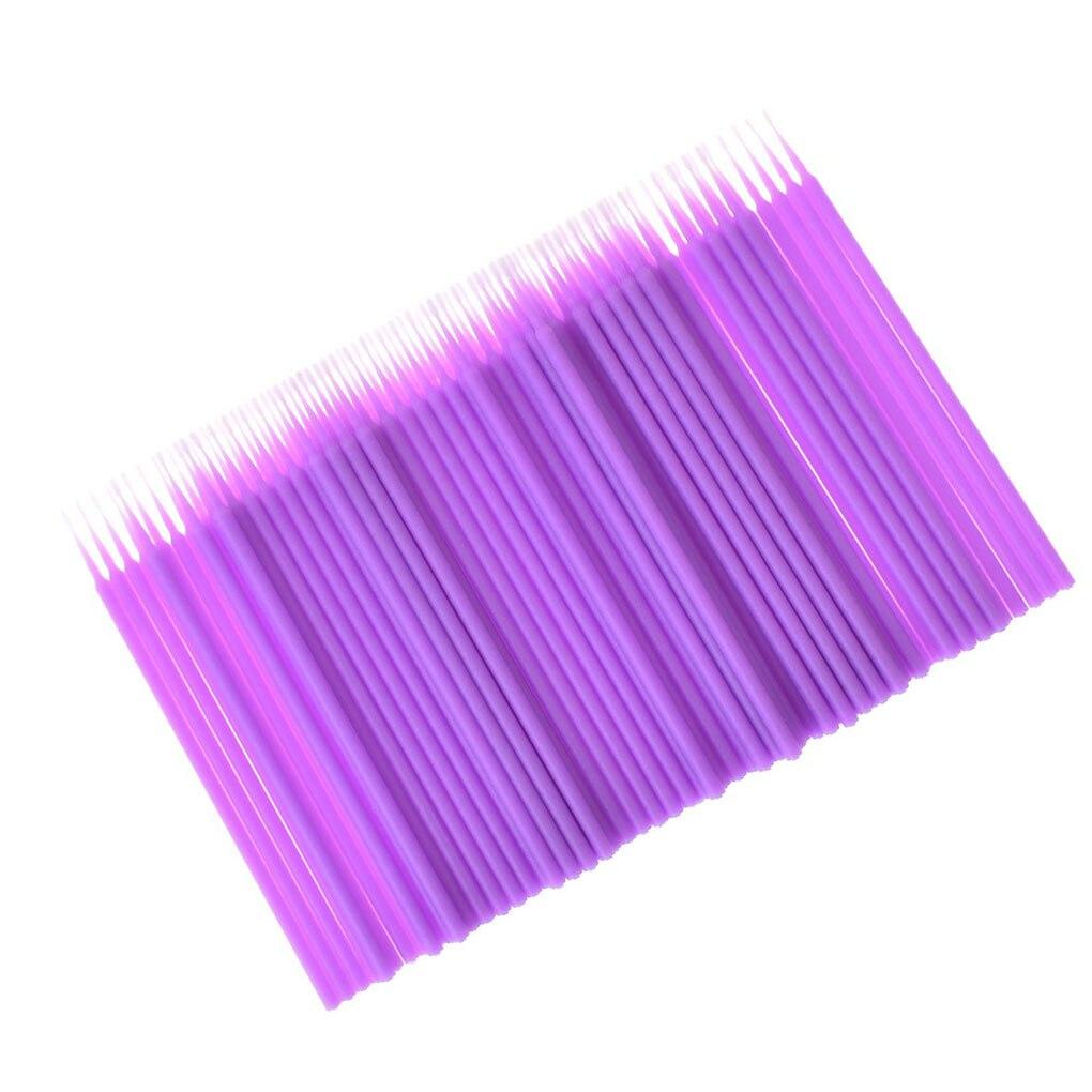 Heißer Verkauf 100pcs/Set Doppel Kopf Einweg Tupfer Faser Kunststoff Sticks Augenbraue Wimpern Make-Up-Tools