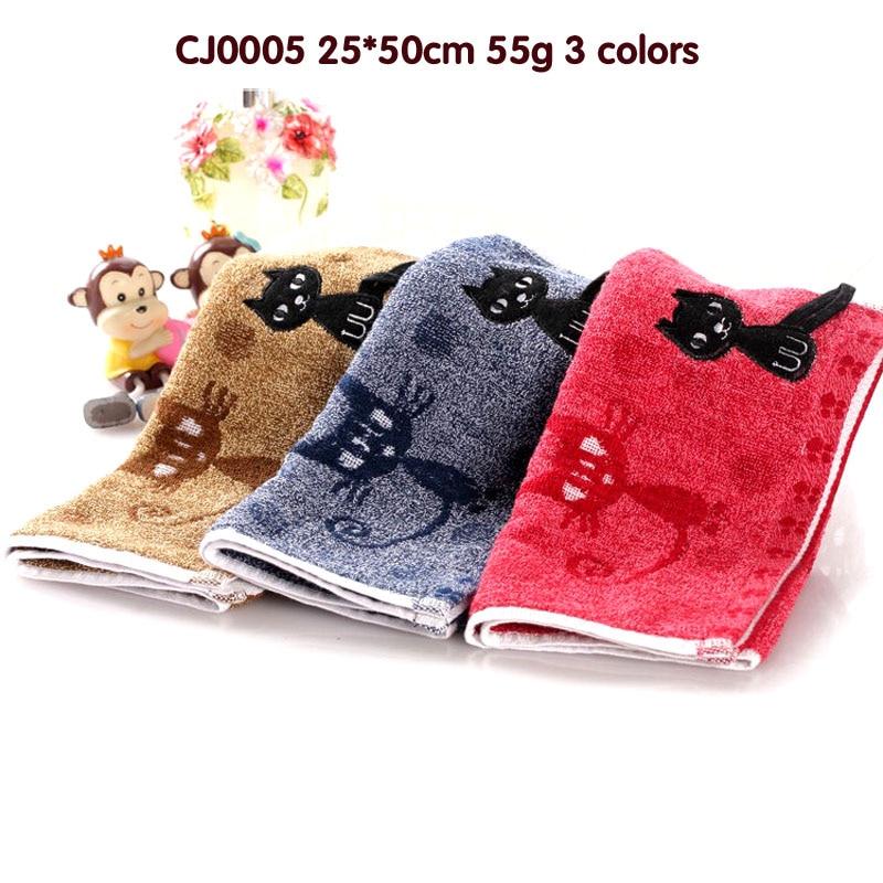 Suave lindo bebé toalla pañuelo para Bebé chico niños alimentación baño lavado de cara color profundo té toalla paño gato Original
