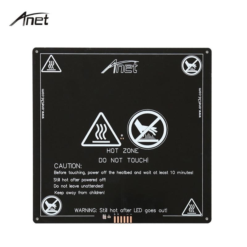 Anet Aluminum Heatbed 12V MK2B Upgraded Big Size 220mm*220mm*3mm MK2A Hotbed for Mendel RepRap 3D printer A8 A6 A2 A3