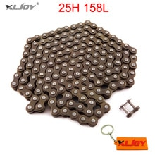 XLJOY cadena 25H 158 enlaces con conexión maestra de repuesto para 47cc 49cc ATV Quad Mini Dirt Pocket bicis minimoto motocicleta