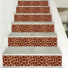 DIY 3D плитка лестницы наклейки Моделирование меха животных съемный водонепроницаемый обои стикер Самоклеющиеся шаги стикер домашний декор