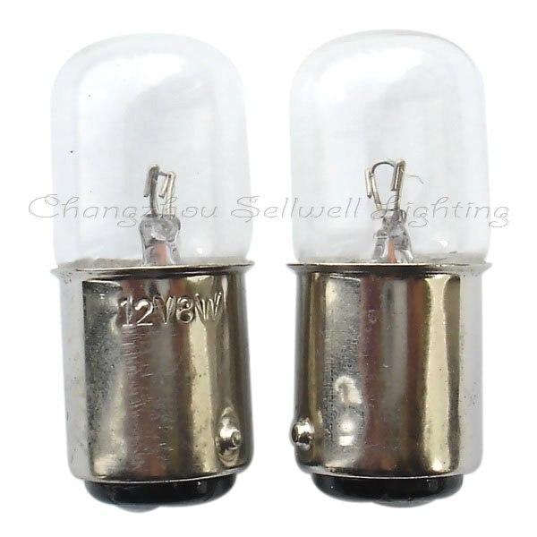 Ba15d T16*39 12v 8w Miniature Lamp Bulb Light A338