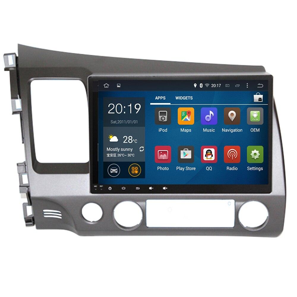 10.2 Cal 2Din Android 9.0 8 rdzeń radia samochodowego ośmiordzeniowy HD 1024*600 Tochscreen odtwarzacz multimedialny GPS na lata 2006-2011 Honda Civic
