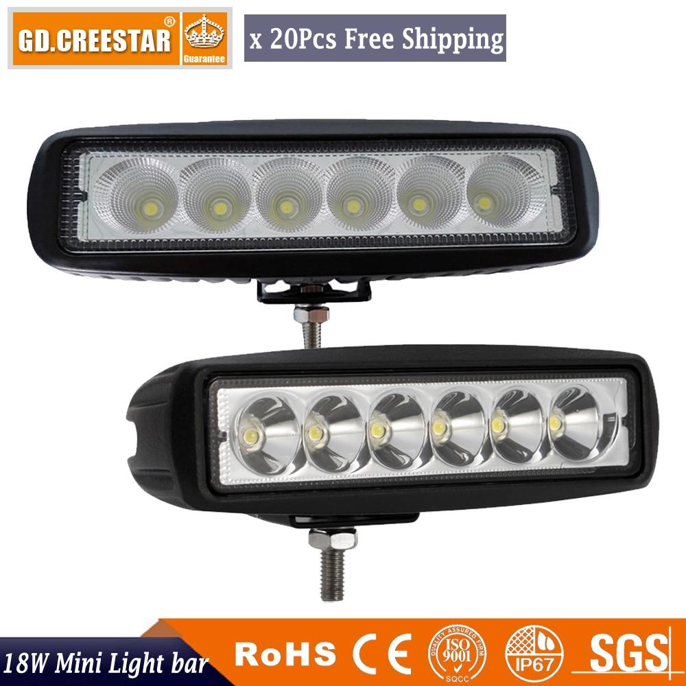 18 9 watts LED Worklight Ponto Flood Luz de Trabalho-32 V 4WD 12 volt 6 polegada levou luzes de trabalho para Veículos Fora de Estrada SUV carro caminhões x20pcs
