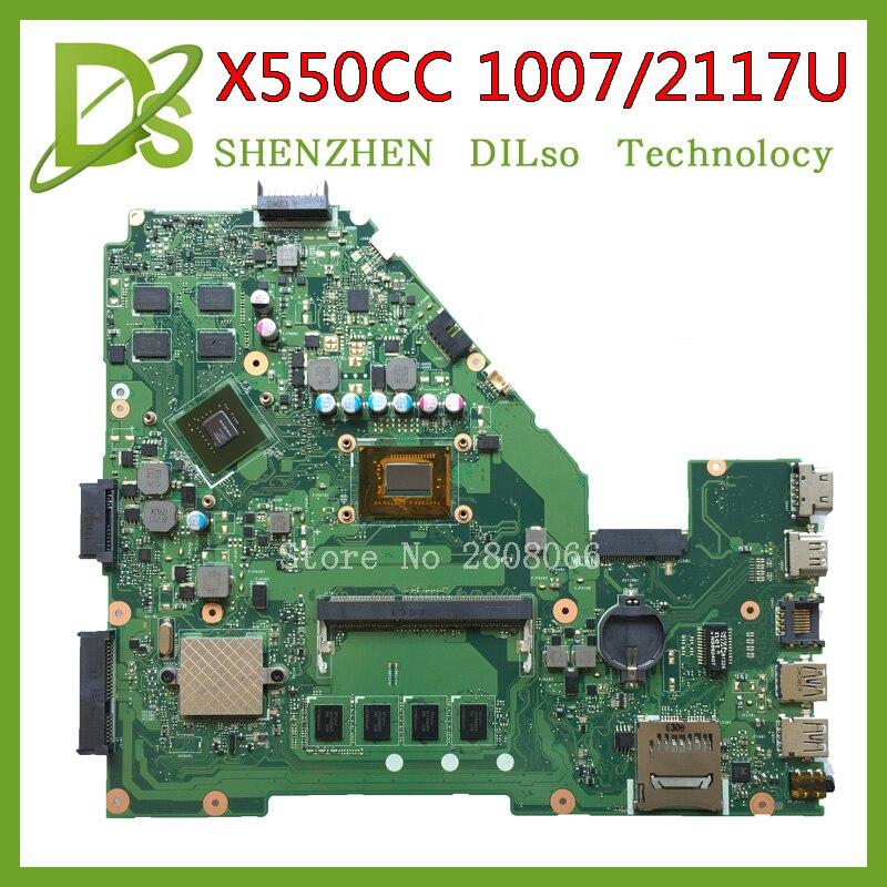 Placa base KEFU X550CC para ASUS X550CC X550CL placa base para ordenador portátil Y581C 1007u/2117u placa base original REV2.0 PM prueba
