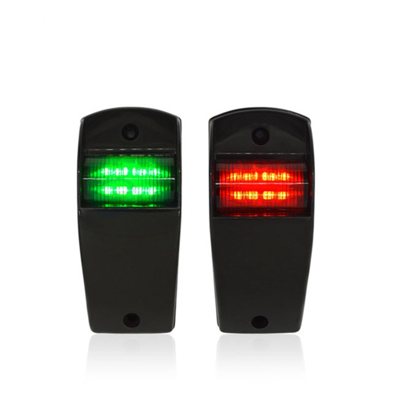 12V LED Red Green Marine Boat Yacht Navigation Light Sailing Signal Lamp Boat Accessories Marine white led marine boat yacht navigation light square stainless steel signal lamp waterproof dc 12v