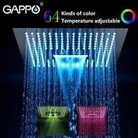 gappo shower head water powered led rainfall 400mm400mm square head shower set faucet bath mixer waterfall bathroom