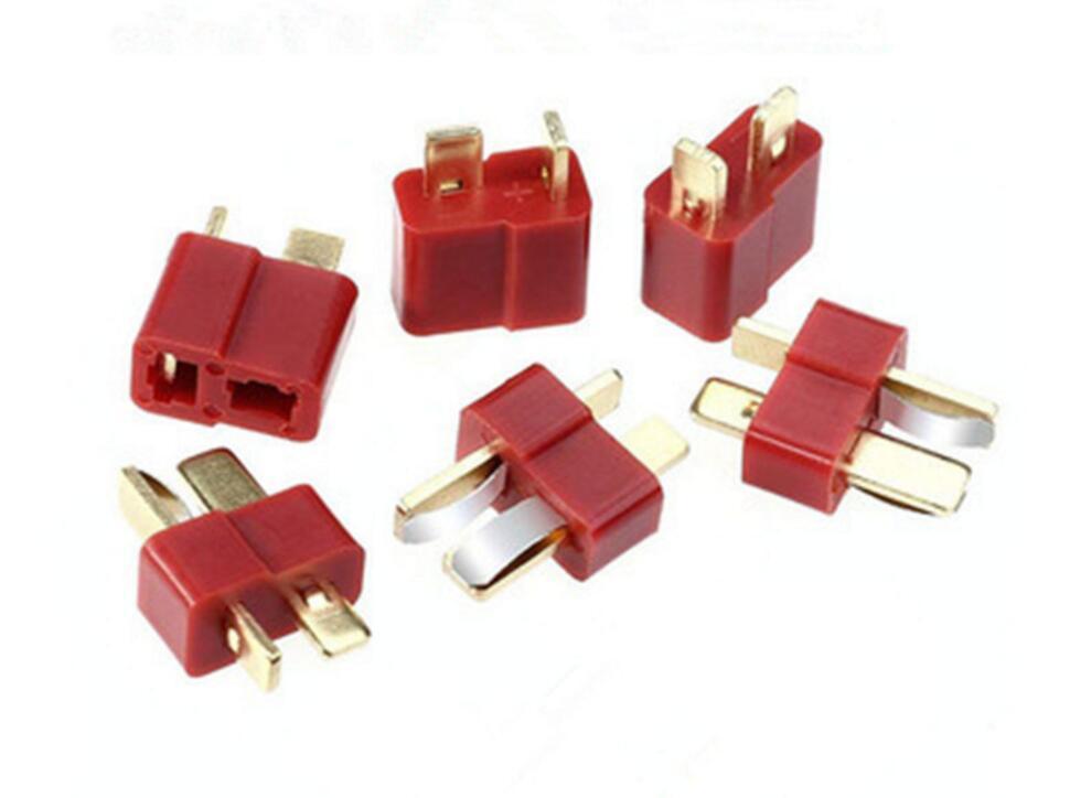 Juego de 10 pares de conectores T para conectores RC macho/hembra, Kit surtido de conectores para batería LiPo RC