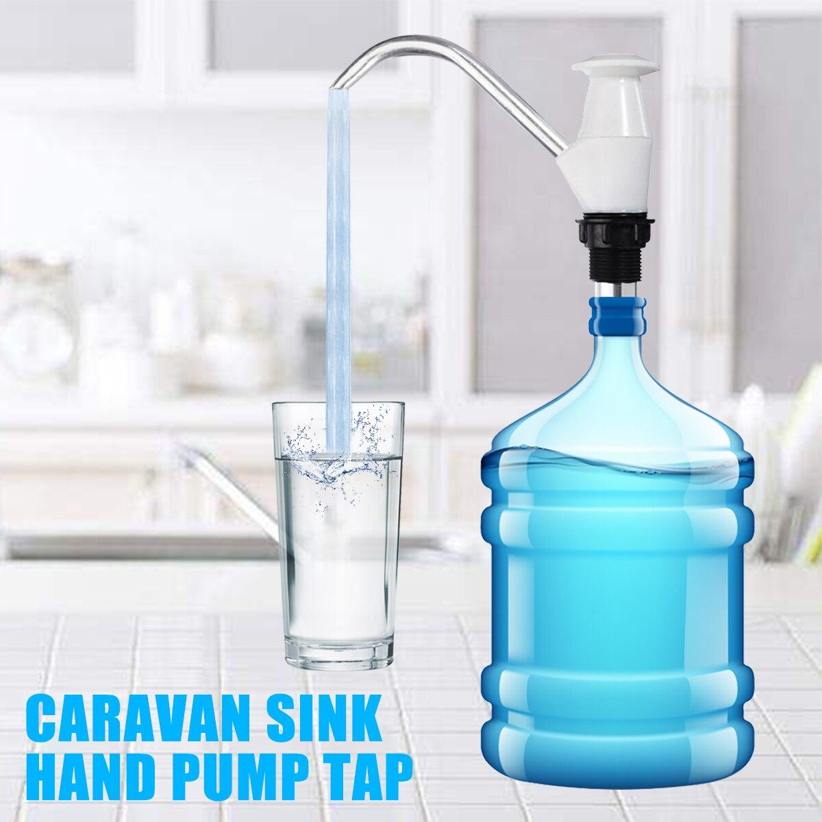 Mayitr Water Bottle Pump Tap Hand Manual Dispenser Drinking Sink Hand Pump for Trailer Caravan Motorhome 4wd Replace Sink Jug
