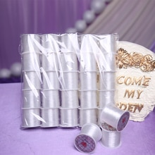 Nueva línea de nailon de cristal de 10 piezas Cable de cuentas blanco cuerda DIY para pulsera de hilo gargantilla collar joyería línea de fabricación YX001