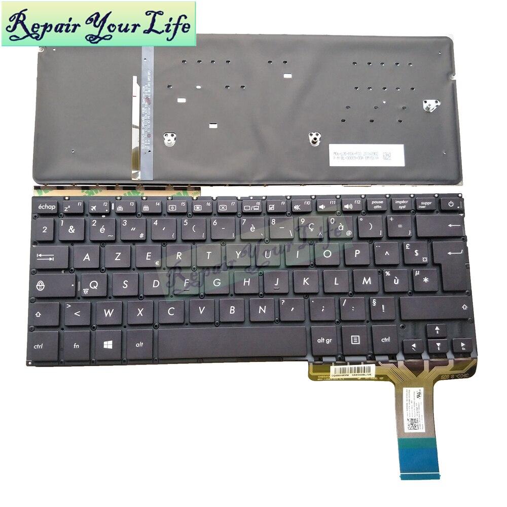 FR الفرنسية ازرتي لوحة مفاتيح الكمبيوتر المحمول لوحات الخلفية ل ASUS ux330 UX330U UX330UA UX330UAK الكمبيوتر المحمول KB جديد 0knb0-2632fr00
