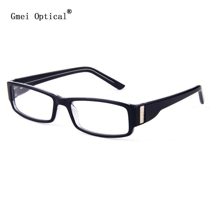 Gmei, gafas ópticas de plástico con estilo, rectangulares para hombre, monturas de gafas negras hipoalergénicas para mujer, montura de gafas T8011