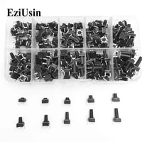 ezusin10 models 66 tact switch tactile push button switch kit height 4 3 513mm dip 4p micro switch 6x6 key switch for arduino