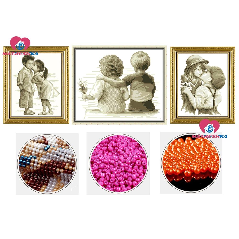 3D Genaue druck diy perlen stickerei kinder reine liebe beadwork wohnkultur handwerk hand home dekoration zubehör Geschenke