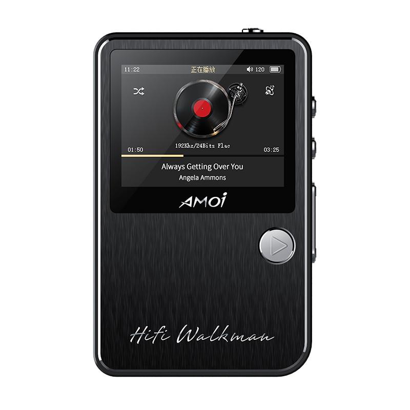 Amoi C50 estéreo HiFi profesional sin pérdidas DAC MP3 reproductor de música Audiophile de formato completo DSD soporte de decodificación 128G TF tarjeta walkman