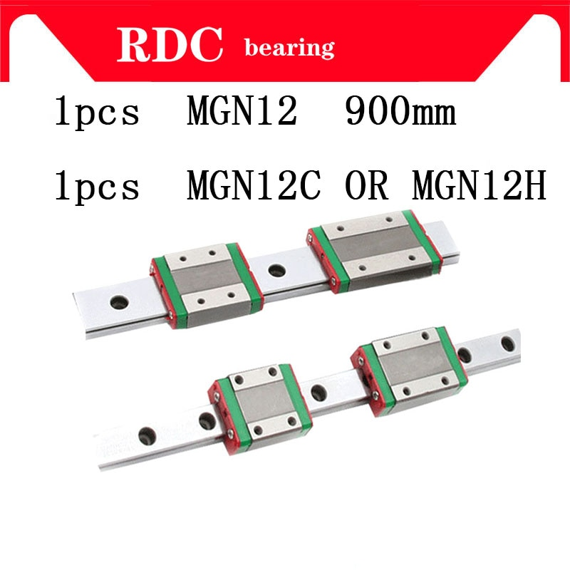 Alta calidad 1 Uds. Guía lineal de 12mm MGN12 L = 900 950 1300mm vía lineal + MGN12C o MGN12H carro lineal largo para CNC XYZ