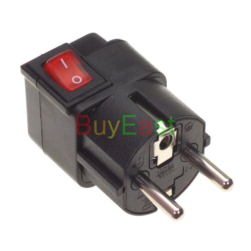 10 Pcs Israel Schuko Alemanha França Coréia Travel Adapter Plug Power Converter REINO UNIDO/EUA/UA/UE ..... mundo Plugue WONPRO Cor Preta Marca
