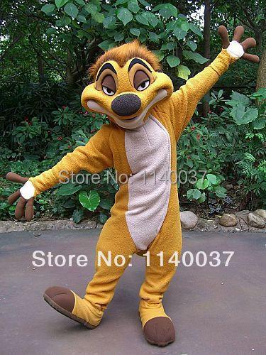 Disfraz de mascota Timon disfraz de mascota disfraz de fantasía personalizado kits de cosplay de anime disfraz de Carnaval