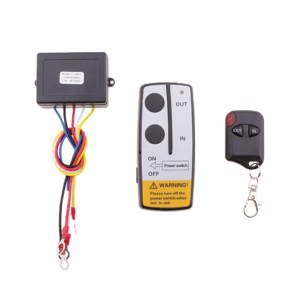 12 V/24 V cabrestante Kit de control remoto interruptor Teléfono para coche UTV ATV SUV KLS-998X para remolque de bomba hidráulica bomba de elevación