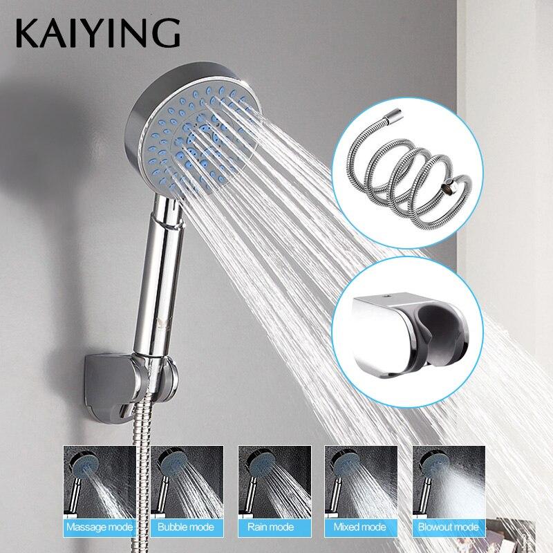 KAIYING دش رئيس 5 وظيفة ABS البلاستيك باليد المطر رذاذ حمام دش الحمام صنبور الاكسسوارات ، TH1102