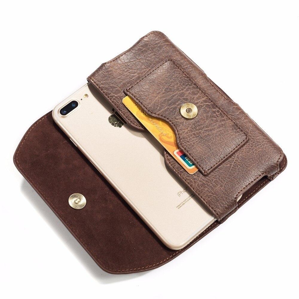 Cartera de cuero Clip de cinturón cintura bolsa funda cubierta de la caja para Global Vivaldi Picasso Nomi i506 i4510 a M i451 giro i5001 EVO M3