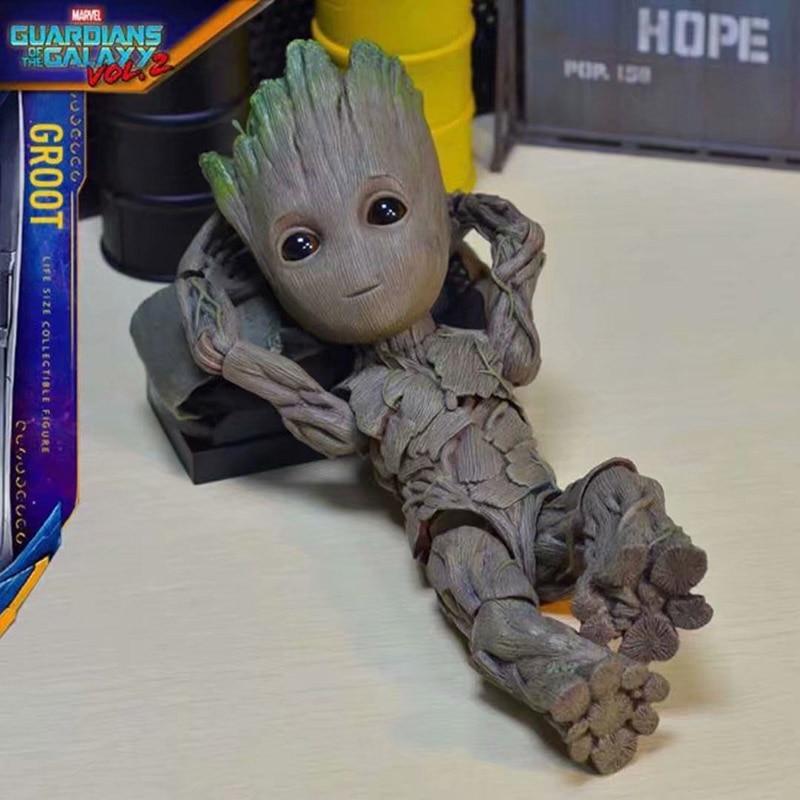 Figuras de acción de guardianes de la galaxia de Marvel, superhéroes vengadores, modelo de hombre en PVC, Figuras coleccionables, regalos para niños