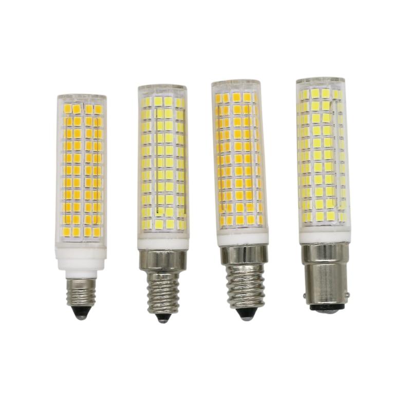 E11 E12 E14 BA15D AC110V AC220V 15W lámparas de luz Led maíz regulable Bombillas lámparas Bombillas reemplazar 100W-150W lámpara halógena