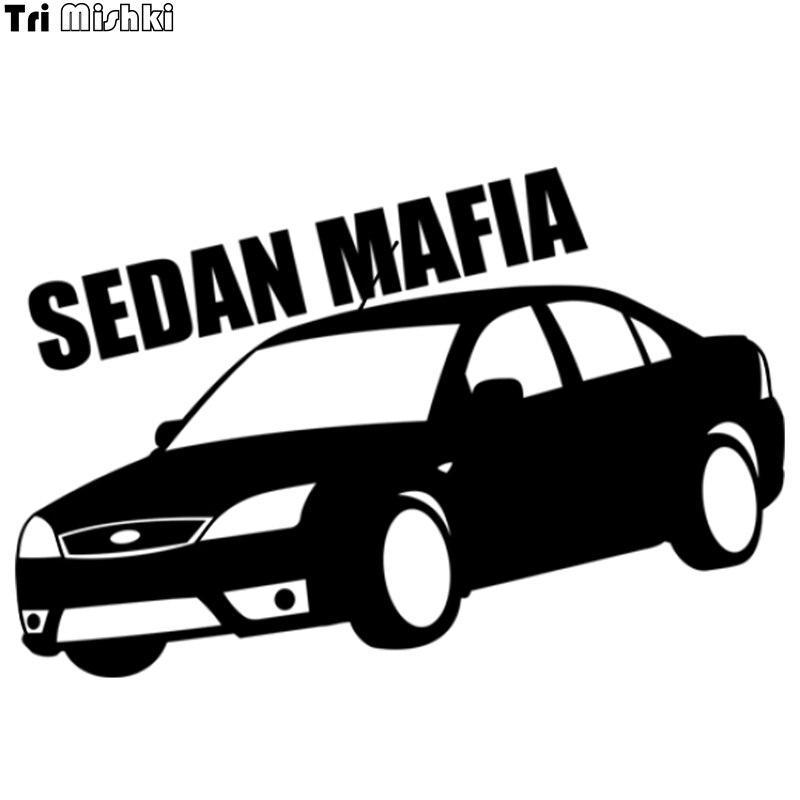 Tri mishki 13.4x20cm máfia sedan para ford mondeo etiqueta do carro auto decalques do carro hzx550