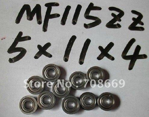 10 piezas miniatura cojinete de brida 5x11x4mm 5x11x4 MF115ZZ