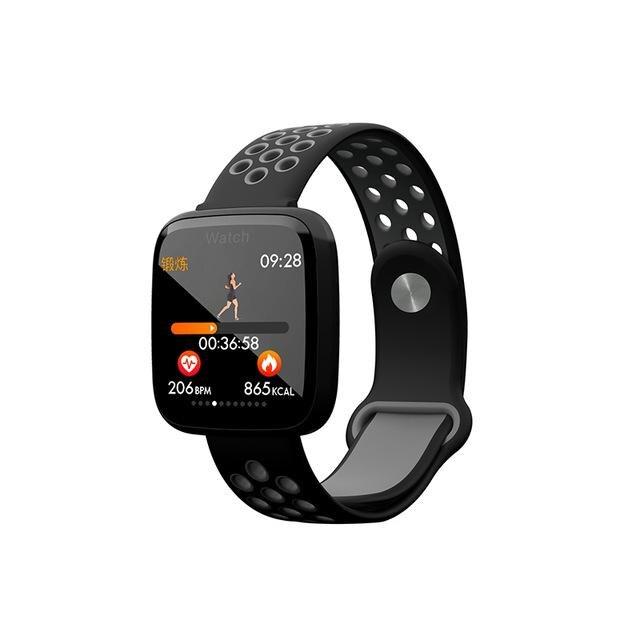 HobbyLane F15 pulsera inteligente esfigmomanómetro Monitor de Fitness pantalla grande rotación rápida imágenes compartir pulsera inteligente d20