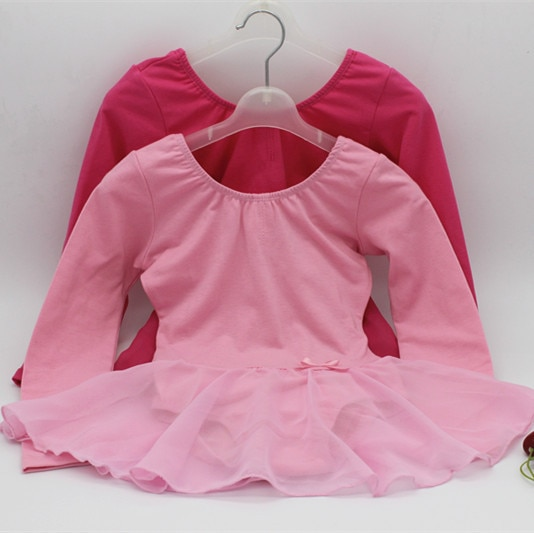 Otoño/Invierno de algodón de manga larga niños Ballet baile vestido niña Ballet Tutu traje niños Balett vestido Ropa de baile de chica 89