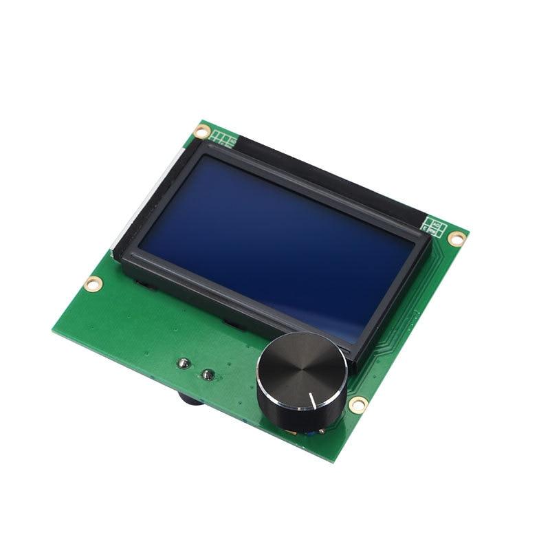 اندر 5 تحكم RAMPS 1.4 LCD 12864 عرض شاشة زرقاء + كابل ل CREALITY 3D Ender-3/ender-3 برو CR-10 CR-10S طابعة أجزاء